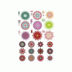 Collection of Ornament Set Free CDR Vectors Art