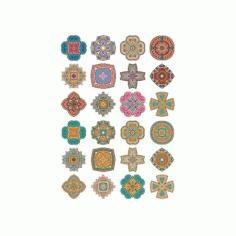Set Of Round Ornaments Mandala 2 Free CDR Vectors Art