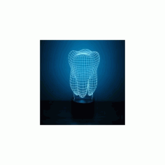 Tooth 3d Led NightLight Free CDR Vectors Art