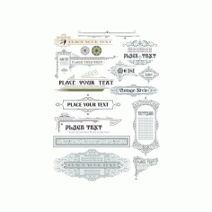 Vintage Decoration Elements Free CDR Vectors Art