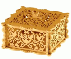 Wooden Box With Bird For Laser Cut Cncmotifs Free CDR Vectors Art