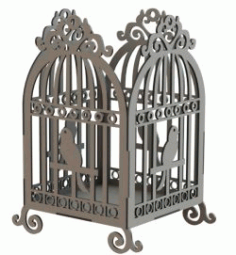 Bird Cage Model For Laser Cut Free DXF File