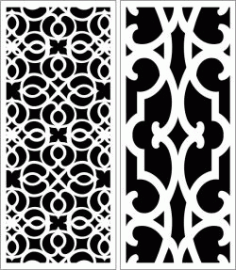 Design Pattern Panel Screen k054 For Laser Cut Cnc Free DXF File