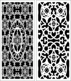 Design Pattern Panel Screen k55 For Laser Cut Cnc Free DXF File