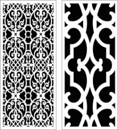 Design Pattern Panel Screen k056 For Laser Cut Cnc Free DXF File