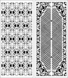 Design Pattern Panel Screen k059 For Laser Cut Cnc Free DXF File