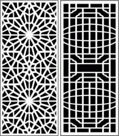 Design Pattern Panel Screen k60 For Laser Cut Cnc Free DXF File
