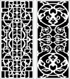 Design Pattern Panel Screen k108 For Laser Cut Cnc Free DXF File