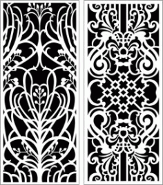 Design Pattern Panel Screen k113 For Laser Cut Cnc Free DXF File