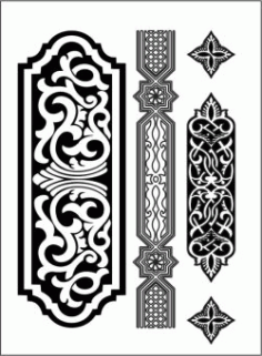 Design Pattern Woodcarving l154 For Laser Cut Cnc Free DXF File