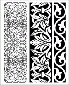 Design Pattern Woodcarving k155 For Laser Cut Cnc Free DXF File