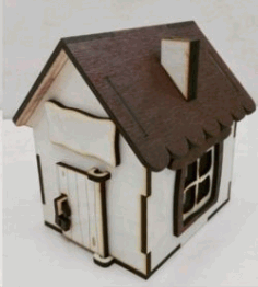 House Bank For Laser Cut Free DXF File