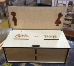 Voting Box For Laser Cut Cnc Free DXF File