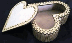 Wooden Heart Box with Cover For Laser Cut Cnc Free DXF File
