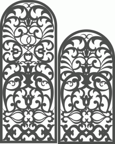 Laser Cut Arch Screen Pattern Free DXF File