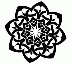 Laser Cut Celtic Ornament Pattern Free DXF File