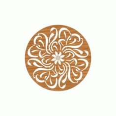 Laser Cut Circular Ornament Pattern Free DXF File