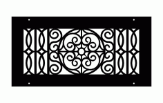 Laser Cut Classic Wrought Iron Pattern Free DXF File