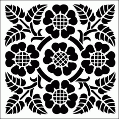 Laser Cut Cnc For Floral Pattern Free DXF File