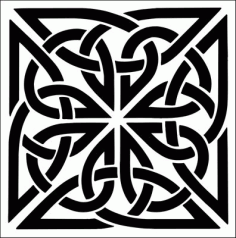 Laser Cut Deco Celtic Stencils Pattern Free DXF File