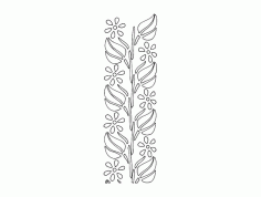 Laser Cut Floral Border Pattern Design Free DXF File