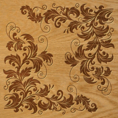Laser Cut Floral Ornament Pattern Free DXF File