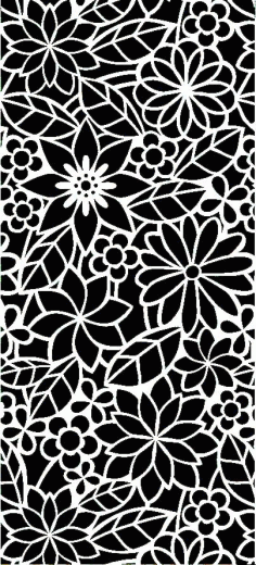 Laser Cut Floral Panel Pattern Free DXF File