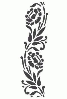 Laser Cut Flower Frame Border Pattern Free DXF File