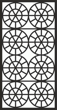 Laser Cut Geometric Grille Design Pattern Free DXF File