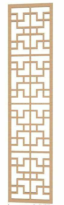 Laser Cut Geometric Pattern Free DXF File