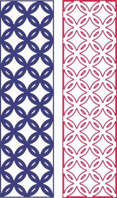 Laser Cut Geometric Seamless Pattern Free DXF File