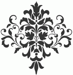 Laser Cut Grill Floral Pattern Free DXF File