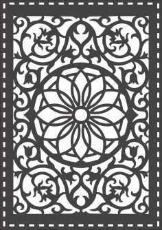 Laser Cut Grille Seamless Pattern Design Free DXF File