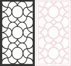 Laser Cut Grilles Seamless Pattern Design Free DXF File