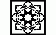 Laser Cut Islamic Wallpaper Pattern Free DXF File