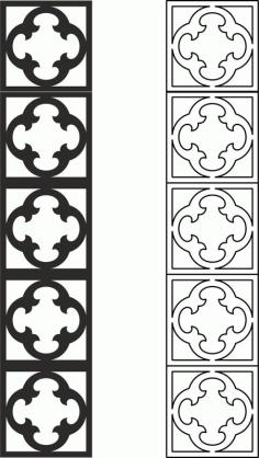 Laser Cut Lattice Partition Pattern Free DXF File