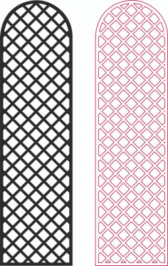 Laser Cut Lattice Privacy Screen Pattern Free DXF File