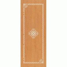 Laser Cut Mdf Door Panel Design Free DXF File