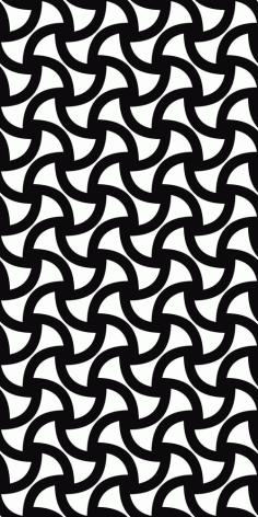 Laser Cut Monochrome Seamless Curved Shape Pattern Free DXF File