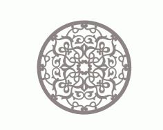 Laser Cut Ornamental Stylized Vector Mandala Pattern Free DXF File