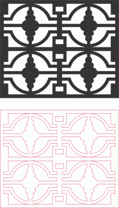 Laser Cut Pattern Wrought Iron Free DXF File
