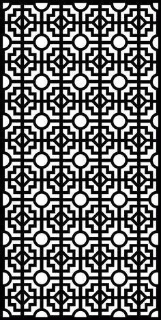 Laser Cut Seamless Design Pattern Free DXF File
