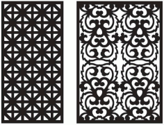 Laser Cut Seamless Ornament Patterns Free DXF File