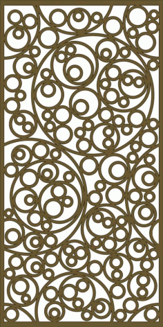Laser Cut Swirl Grille Patterns Free DXF File