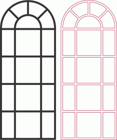 Laser Cut Window Grille Patterns Free DXF File