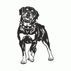Dog Rottweiler Breed Art Free DXF File
