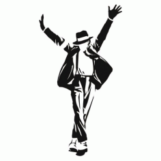 Michael Jackson Poster Free DXF File