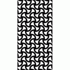 Monochrome Seamless Curved Shape Pattern Free DXF File