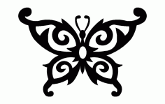 Butterfly Design Art 55 Free DXF File