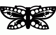 Silhouette Of Butterfly Free DXF File